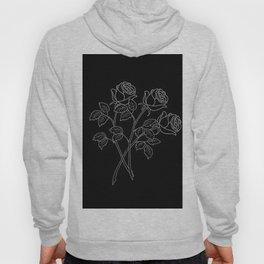Black & White Flowers Hoody
