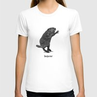 beaver T-shirts featuring Beaver by peanut