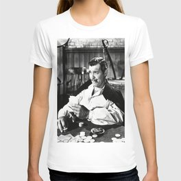 Clark Gable Playing Poker Retro Vintage Art T-shirt
