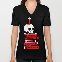 Horror is Lit Unisex V-Neck