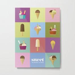 Swet ice cream 12 Metal Print