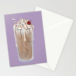 Frosty Chocolate Milkshake Stationery Cards