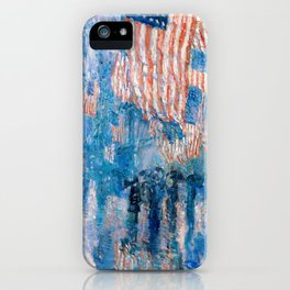 The Avenue In The Rain Frederick Childe Hassam - Digital Remastered Edition iPhone Case