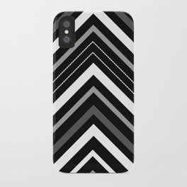 Black and white Chevron iPhone Case