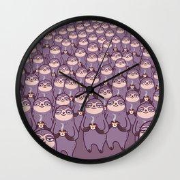 Sloths -tastic! Wall Clock