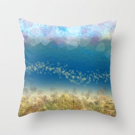Abstract Seascape 02 wc Throw Pillow