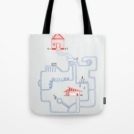 All Roads Lead to Your House Tote Bag
