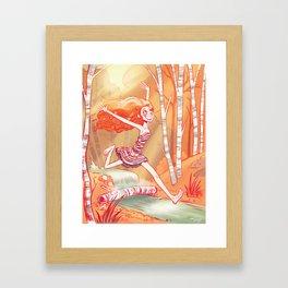 Beneath the Birch Framed Art Print