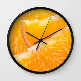Juicy Orange Slices Fruit Collage Wall Clock