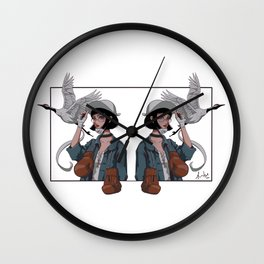 Free from pain, free from scars Wall Clock