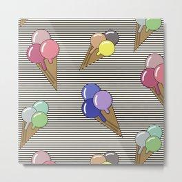 Ice cream splash Metal Print