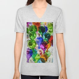 Colourful Glass Balloons | Venice Unisex V-Neck