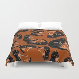 Black dingo pattern (c) 2017 Duvet Cover