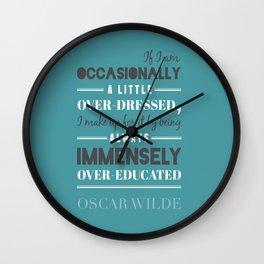 Oscar Wilde - poster Wall Clock