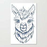alpaca Canvas Prints featuring Alpaca by Jess Moore