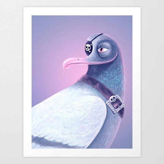 Pirate Joe Albatross Art Print