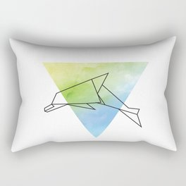 Origami Dolphin Rectangular Pillow