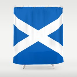 National flag of Scotland - Authentic version to scale and color Shower Curtain