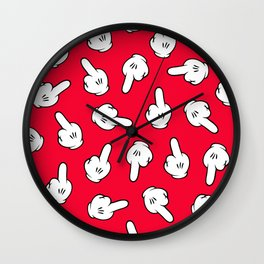 HATERS GONNA HATE! Pattern in red Wall Clock