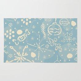 Cozy Winter Doodles Rug