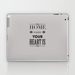 Home Heart grey - Typography Laptop & iPad Skin