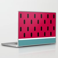watermelon Laptop & iPad Skins featuring Watermelon by According to Panda