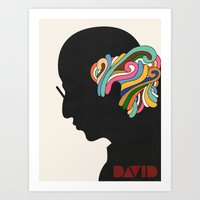 david fleck Art Prints featuring David by Nick Nelson