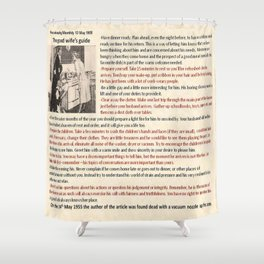 Good Wife's Guide Shower Curtain