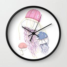 Jelly Shrooms Wall Clock
