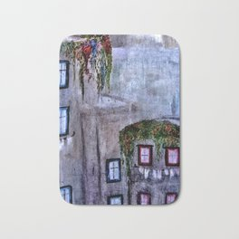 Houses in Milan in the evening Italy Bath Mat
