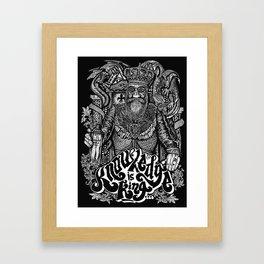 Knowledge is King... Framed Art Print