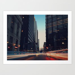 City Nights II Art Print