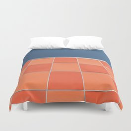 check it out ! mid century facade Duvet Cover