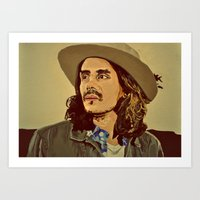john mayer Art Prints featuring John Mayer by Tess Brierley