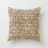 teeth Throw Pillows featuring Teeth by Jason Covert