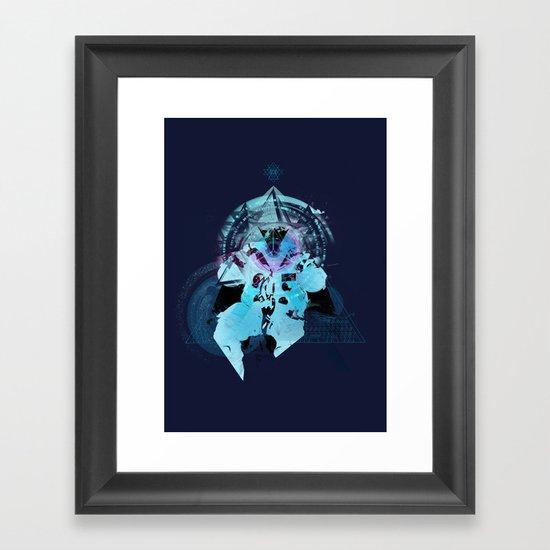 Illuminati Astronaut Framed Art Print