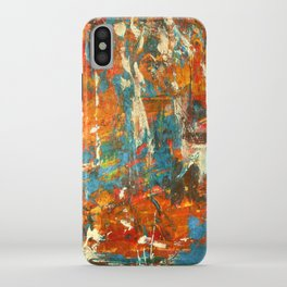 An Oasis In A Desert Abstract Painting iPhone Case