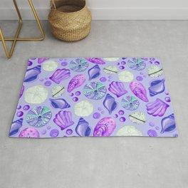 Purple Seashells  Rug