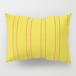 Simple design. Lines on an yellow background. Pillow Sham