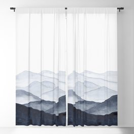 Watercolor Mountains Blackout Curtain