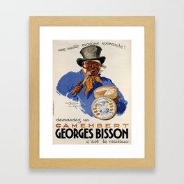 Affiche demandez un camembert georges bisson. 1937  Framed Art Print