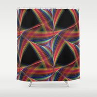 triangles Shower Curtains featuring Triangles by David Zydd