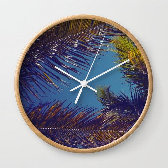 Palm Sky Wall Clock