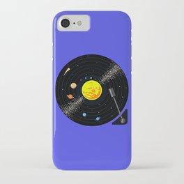 Solar System Vinyl Record iPhone Case