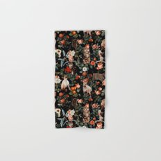 Cat and Floral Pattern II Hand & Bath Towel
