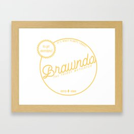 Brawndo Framed Art Print