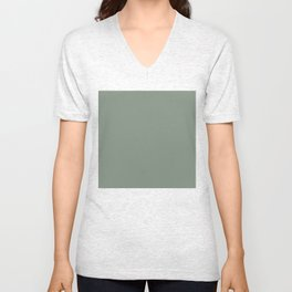Green Pantone #839182 Unisex V-Neck