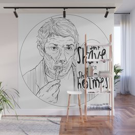Shave for Sherlock Wall Mural