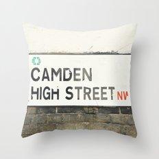 Camden High Street Sign Throw Pillow