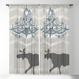 A Moose finds home Sheer Curtain
